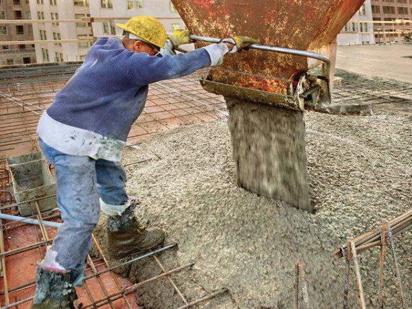 Качество бетона должно соответствовать требованиям расчетов.