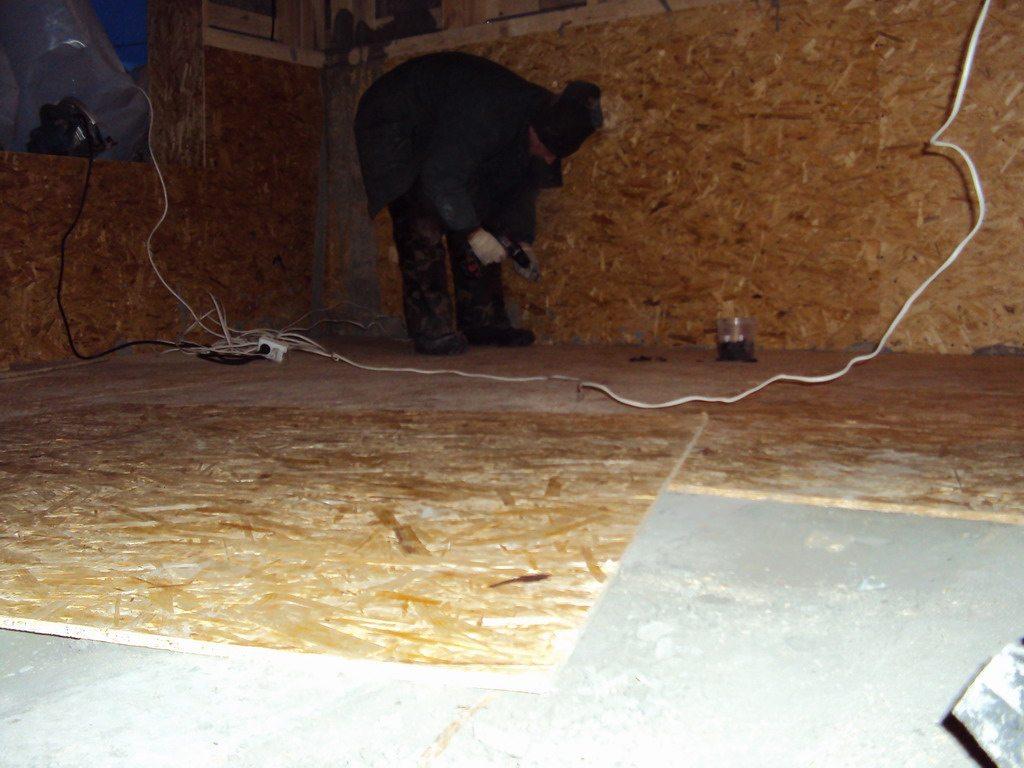 Как крепить ОСБ к бетонному полу самостоятельно
