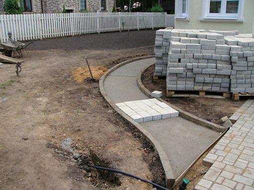 Как происходит укладка брусчатки на бетонное основание