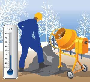 Как производится приготовление бетона в зимних условиях