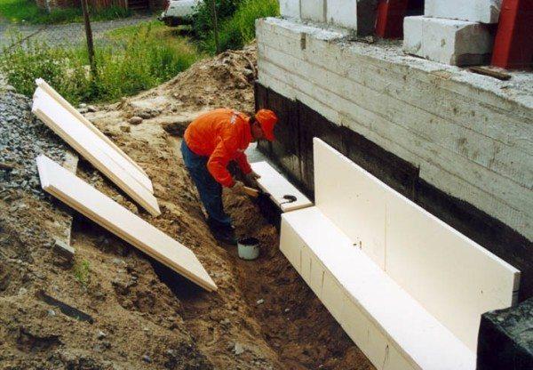 Как утеплить бетон после заливки пенополистиролом