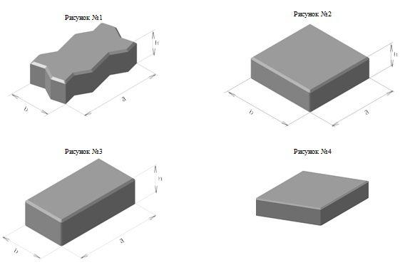 Какими размерами определяется бетонная прямая брусчатка по госту
