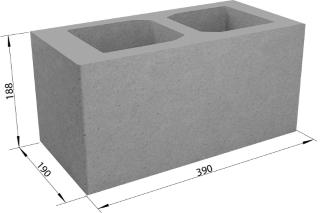 Керамзитобетонные пустотелые блоки определенных размеров