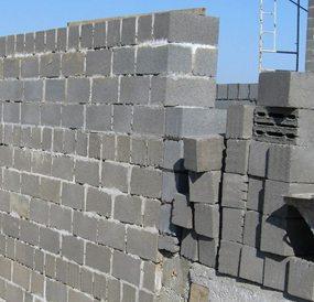 Кладка из полнотелых блоков