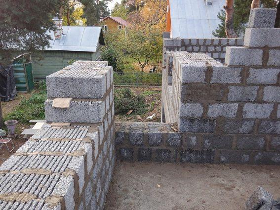 Кладка с применением стеновых блоков