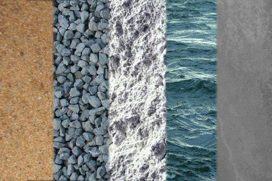 Компоненты бетонного раствора