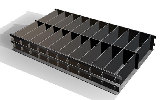Конструкция формы для заливки блоков