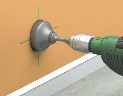 Как сделать отверстие для розетки в бетонной стене