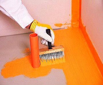 Красна для бетонного покрытия, используемая в квартире
