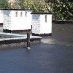 Крыша, покрытая гидроизоляционной мастикой