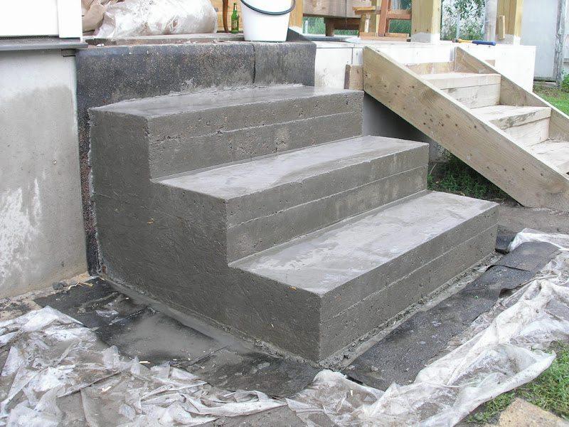 Ступени из бетона своими руками