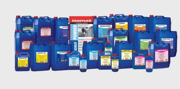 Материалы, которые можно использовать в качестве добавок и пропиток в раствор для водозащиты