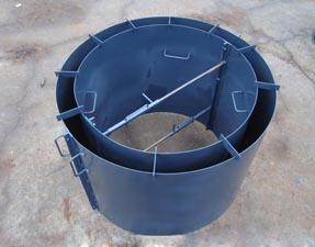 Металлическая конструкция, упрощающая производство железобетонных колец