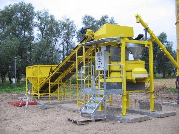 Мини завод по производству бетона непосредственно на месте строительства