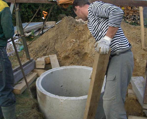 Монтаж бетонного кольца