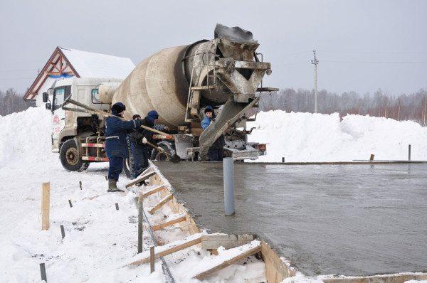 Морозное бетонирование