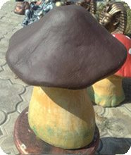 Можно изготавливать грибы самых различных форм