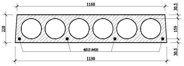 На чертежах обязательно указывается расположение и диаметр элементов армирующей системы