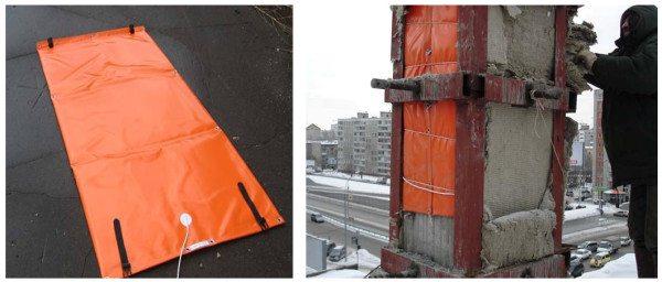 На фото - бетонирование с помощью термоматов