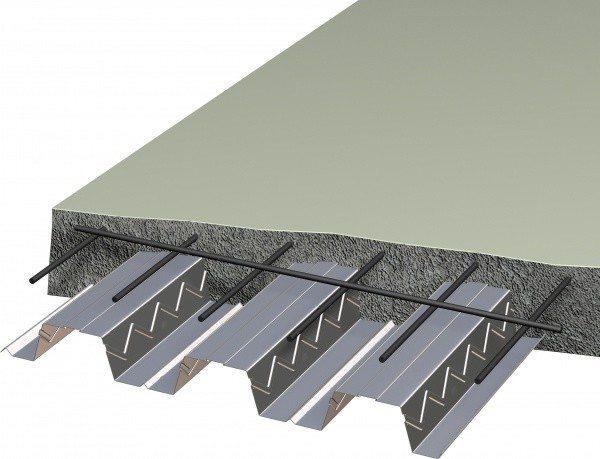На фото - применение стальных профилей, как арматуры бетона.