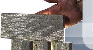 На фото - применение стекловолокна позволяет придать даже тонким бетонным элементам непревзойденную прочность