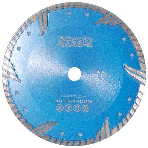 На фото - турбо-алмазный диск для армированного бетона