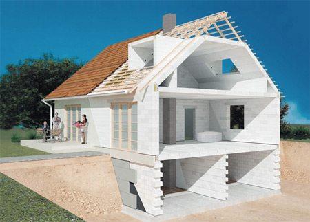 На фото – этапы возведения жилья