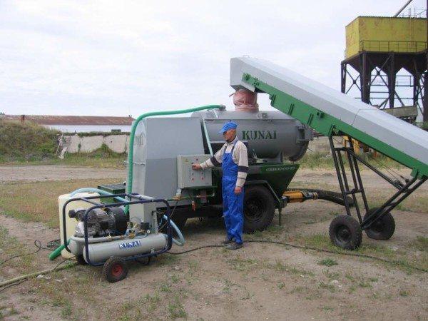 На фото – готовая установка для производства пенобетона