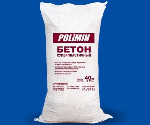 На фото – сухая бетонная смесь в мешке готовая к применению