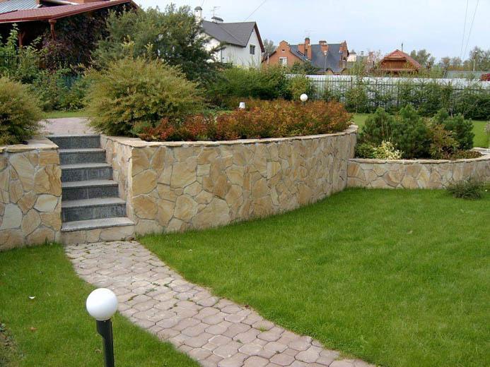 Опорные стены склон в саду схемы