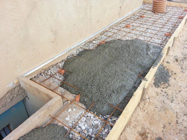 На фото представлена будущая отмотка из бетона.