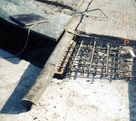 На фото Т-образный конструкционный шов