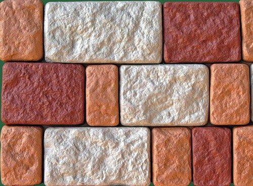 На фото видна хорошая укрывистость краски, нанесённой на поверхность отделочного камня