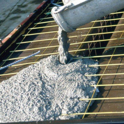На фото – водонепроницаемая бетонная смесь