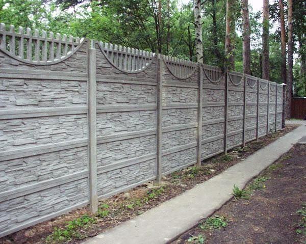 Наборный забор из ж/б