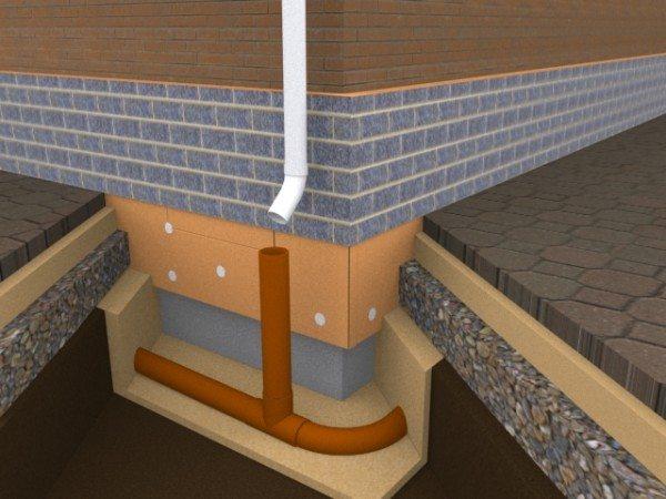 Надо заранее спланировать дренажную систему иначе потребуется алмазное бурение отверстий в бетоне