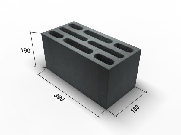 Наиболее популярные размеры блока из керамзитобетона