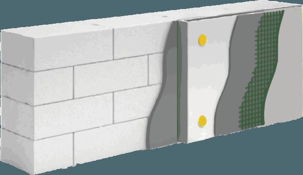 Наклеивание теплоизоляционных листов на фасад