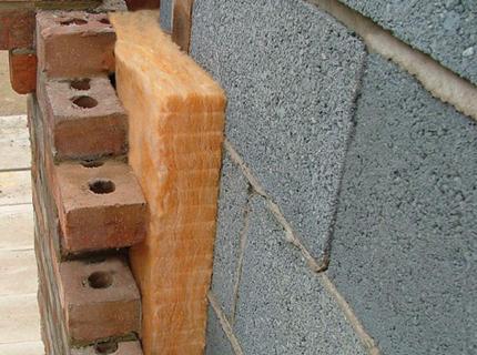 Наружное утепление стен минеральной ватой