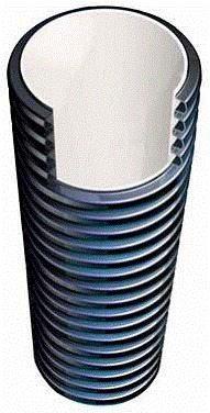 Наружный слой обеспечивает жесткость, внутренний - минимальное сопротивление движению стоков.