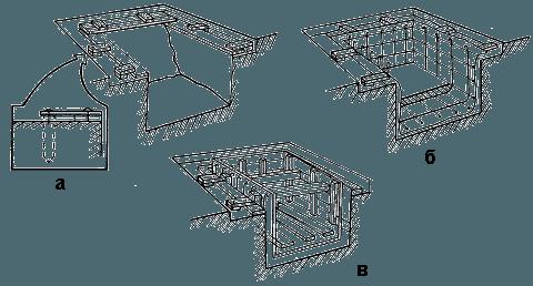 Некоторые мастера предпочитают по краю таких конструкций устраивать дренажный слив, чтобы полностью контролировать перемещение водяных масс по участку