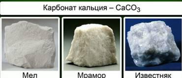 Несколько минералов, большей частью состоящих из карбоната кальция.