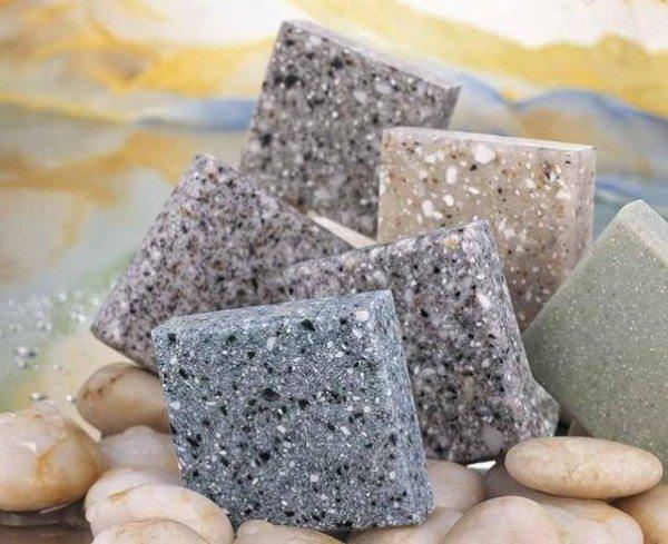 Облицовочные плитки из пластбетона