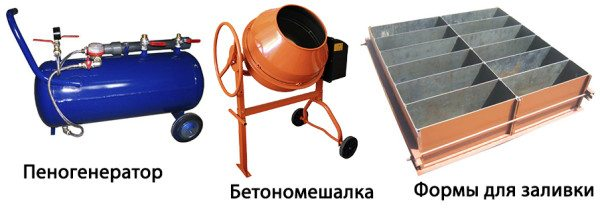 Оборудование для изготовления пенобетона