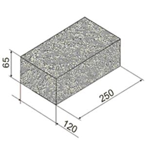 Один из распространенных размеров камня