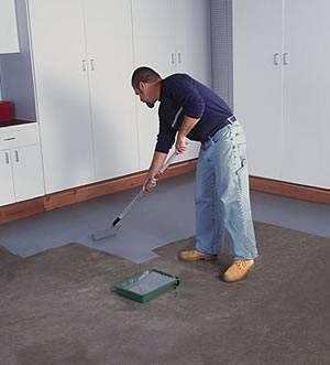 Окрашивание бетонного основания