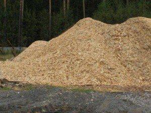 Опилки деревьев хвойных пород – один из основных компонентов
