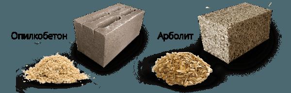 Опилкобетонный блок не является арболитом