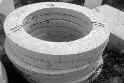 Опорные колодезные кольца для регулирования высоты шахты