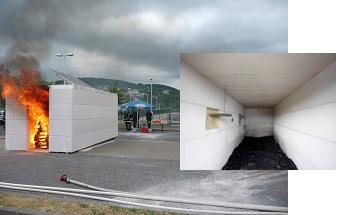 Опытные испытания огнестойкости газобетонных блоков